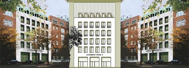 planung neubau eines wohn und gesch ftshauses in berlin wilmersdorf. Black Bedroom Furniture Sets. Home Design Ideas